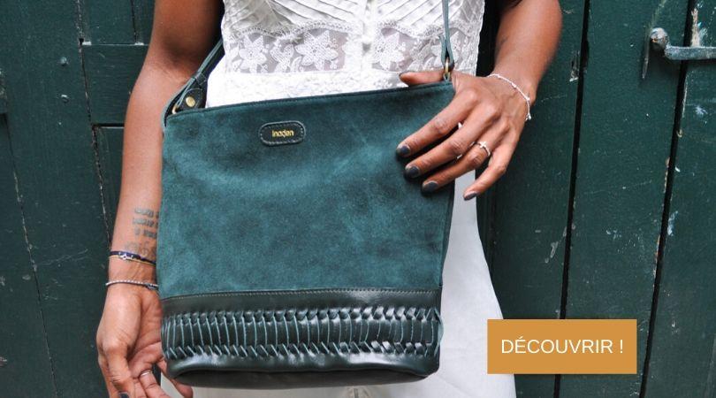 sac éthique en cuir original tendance pour femme inaden