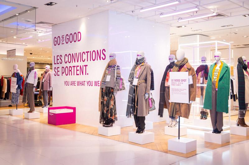 Galeries Lafayette corner mode éthique go for goods créateurs de mode responsable