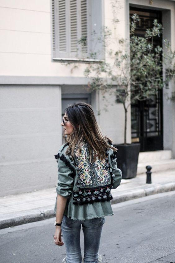 look femme vest kaki style bohème chic