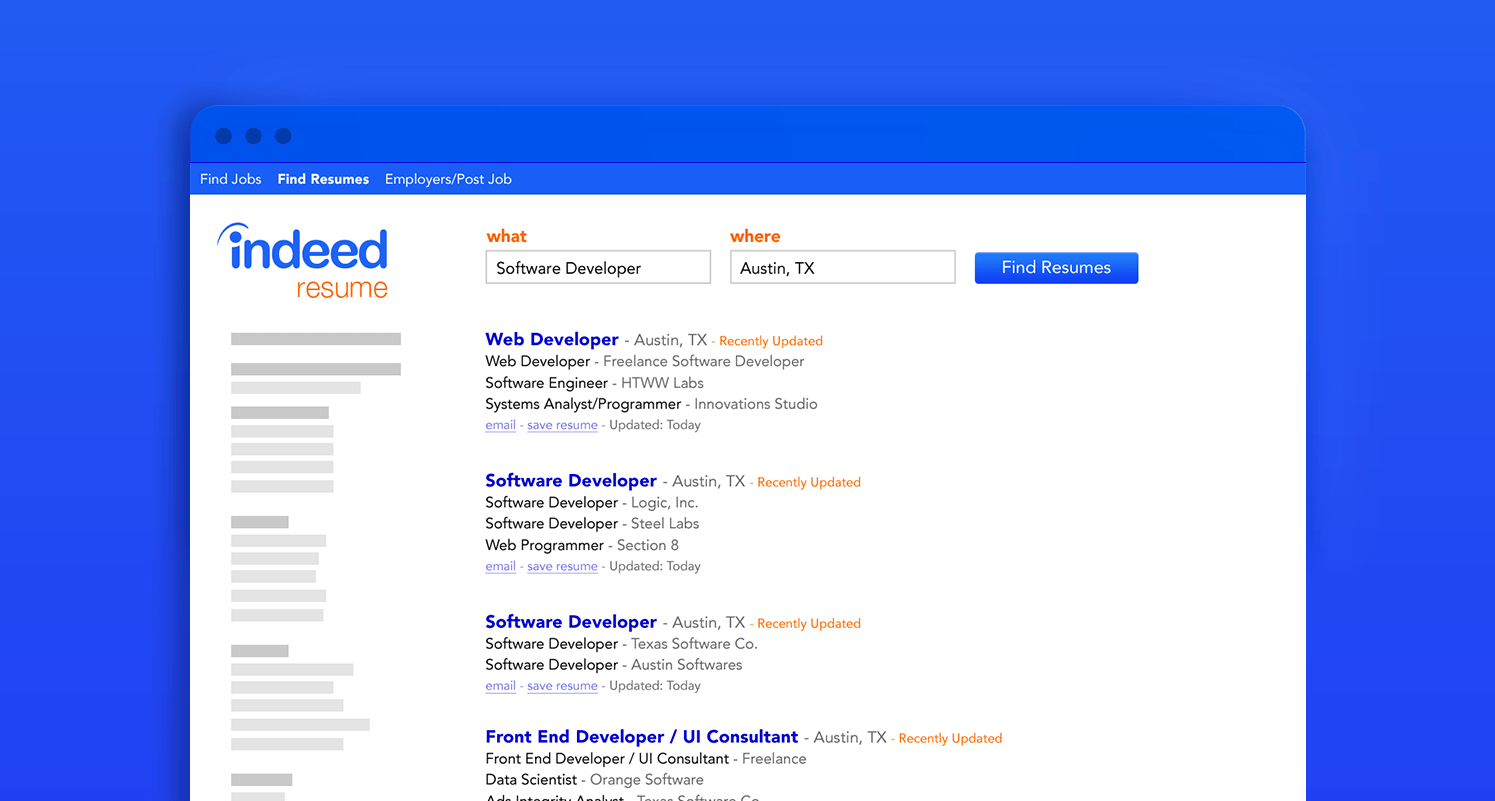 How To Send Resume To Indeed How To Use Indeed Resume To Find Great Candidates Indeed