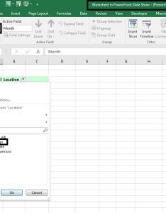 Pivot table in the powerpoint slide also tables by kasper langmann rh blogdezine