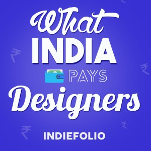 White text on a blour back background that says What India Pays Designers