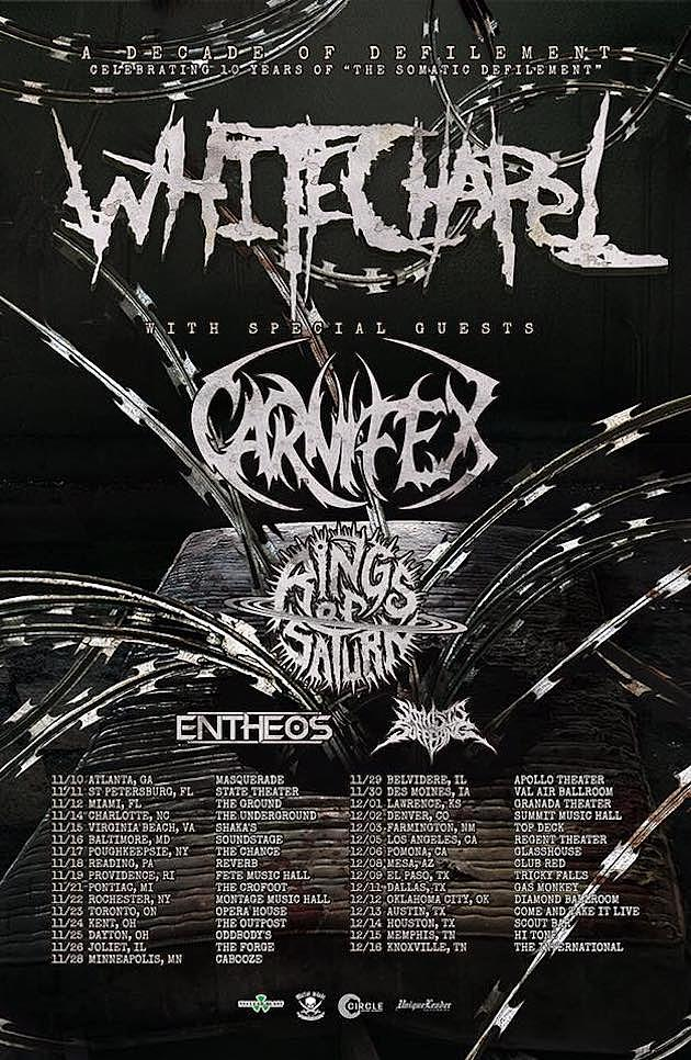 Whitechapel/Carnifex Touring this fall!