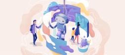 illustrazione di un chatbot per gli appassionati di arte