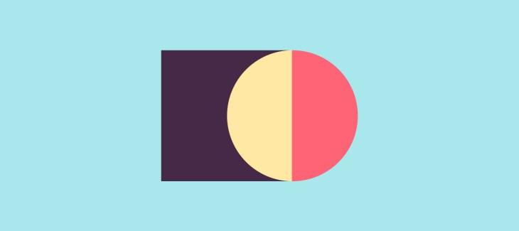 immagine iconica del processo di creazione di un risponditore automatico, quadro e cerchio bicolore