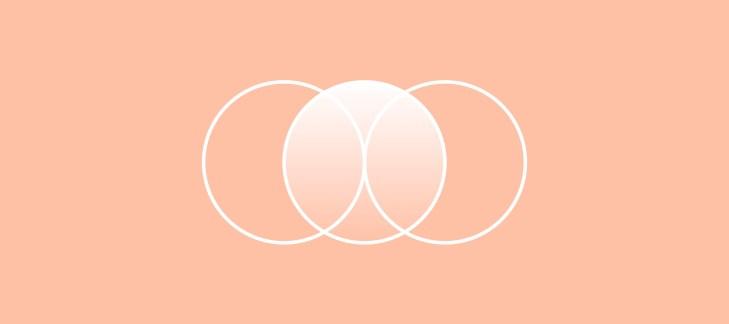 tre cerchi si intersecano, rappresentazione dell'integrazione tra intelligenza artificiale e pubblica amministrazione