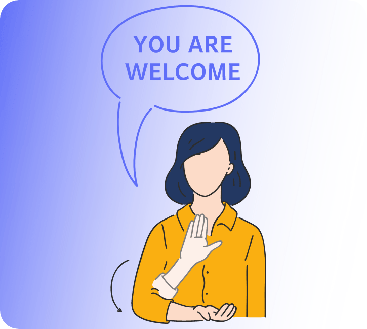 Sign Language Interpreter: You Are Welcome in Chat Box