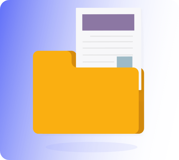Accessible event materials: Folder With Document