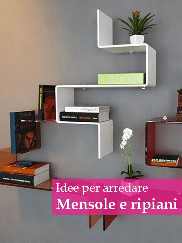 Libreria bianca in legno 60 moderna scaffali mensole parete salotto cameretta. Come Arredare Con Mensole E Ripiani Le Idee Piu Originali