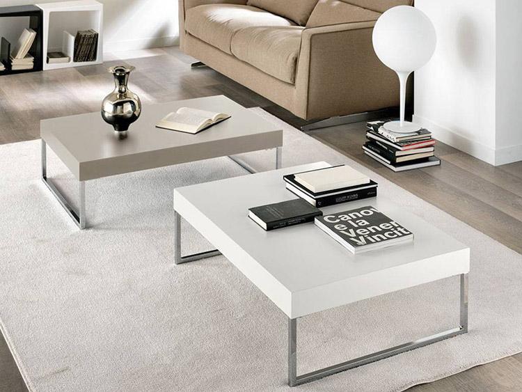 Tavolino Soggiorno Bianco Lucido