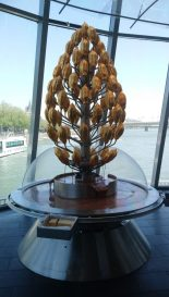 A Chocolate Fountain shaped like a tree at the Cologne Chocolate Museum