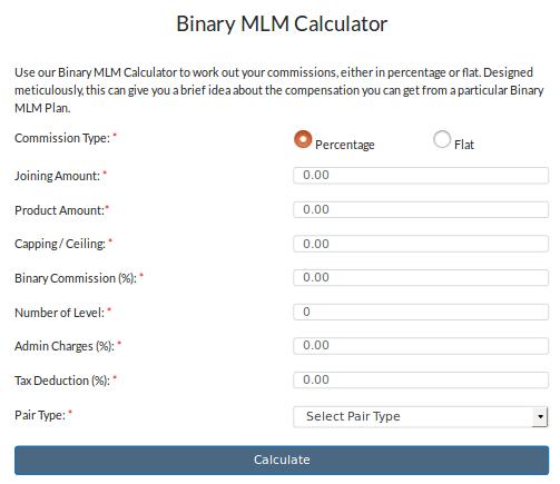 Binary MLM Plan Calculator