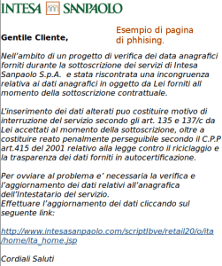 Phishing Intesa San Paolo