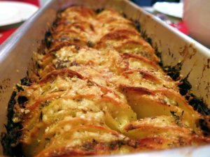 Recipe: Hasselback potato gratin