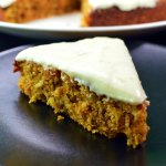 Moist carrot cake with lime frosting