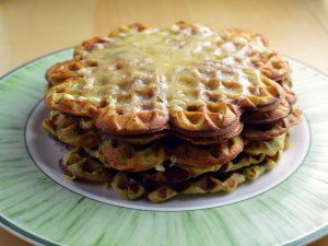 Recipe: Mashed potato and avocado waffles