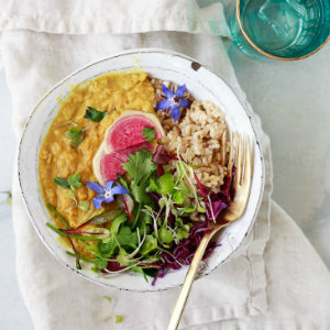 Easy red lentil masoor dal