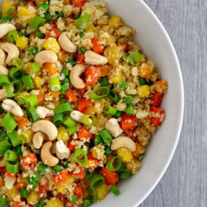 Pineapple cauliflower fried rice