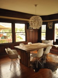Rustic-Modern Dining and Eames Style Chairs | Inmod STYLE