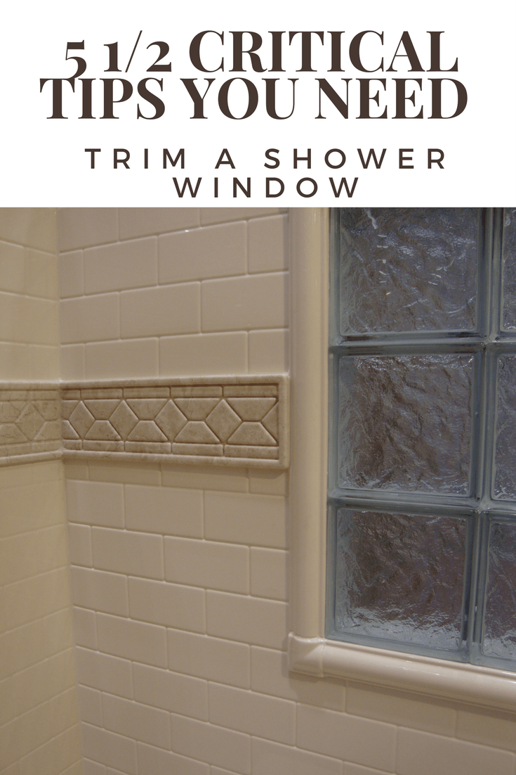 how to trim a shower window for style