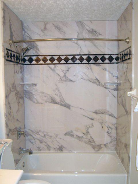 decorative diy shower tub wall panels
