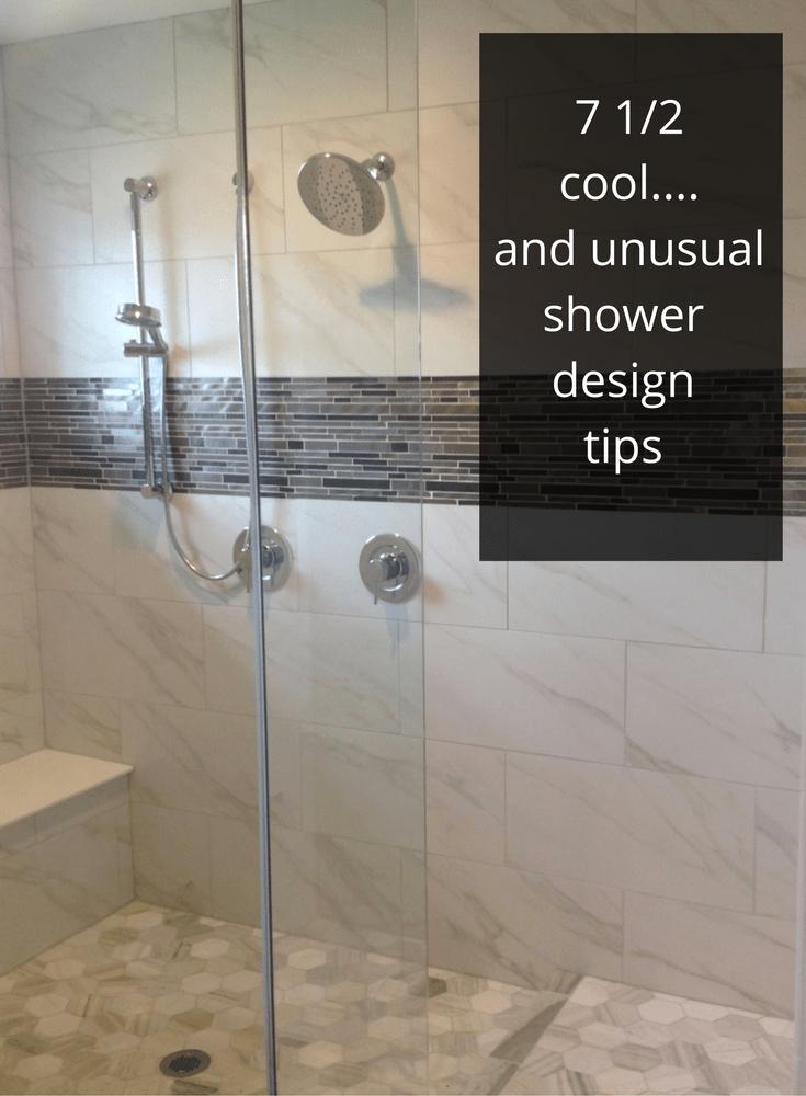 custom tile shower design
