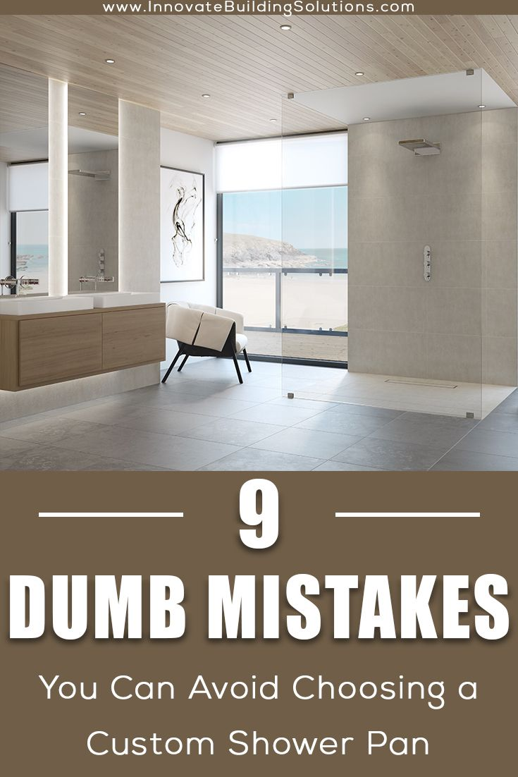 custom shower pan mistakes you can