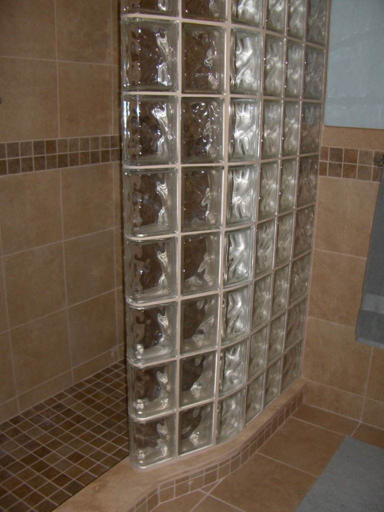 Glass Block Shower Wall Sizes Shapes Design Cleveland