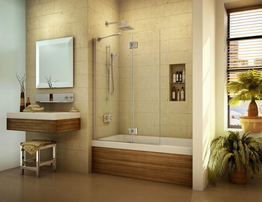 Sliding Bath Tub Doors Pivoting Bath Screen Shield Curved