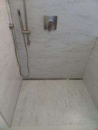 Trench, trough, channel, linear shower drains, invisible