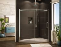 Acrylic round, curved, cool shower base & pan systems ...