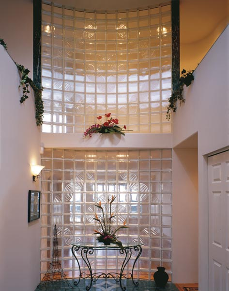 Glass block patterns  designs for interior window wall