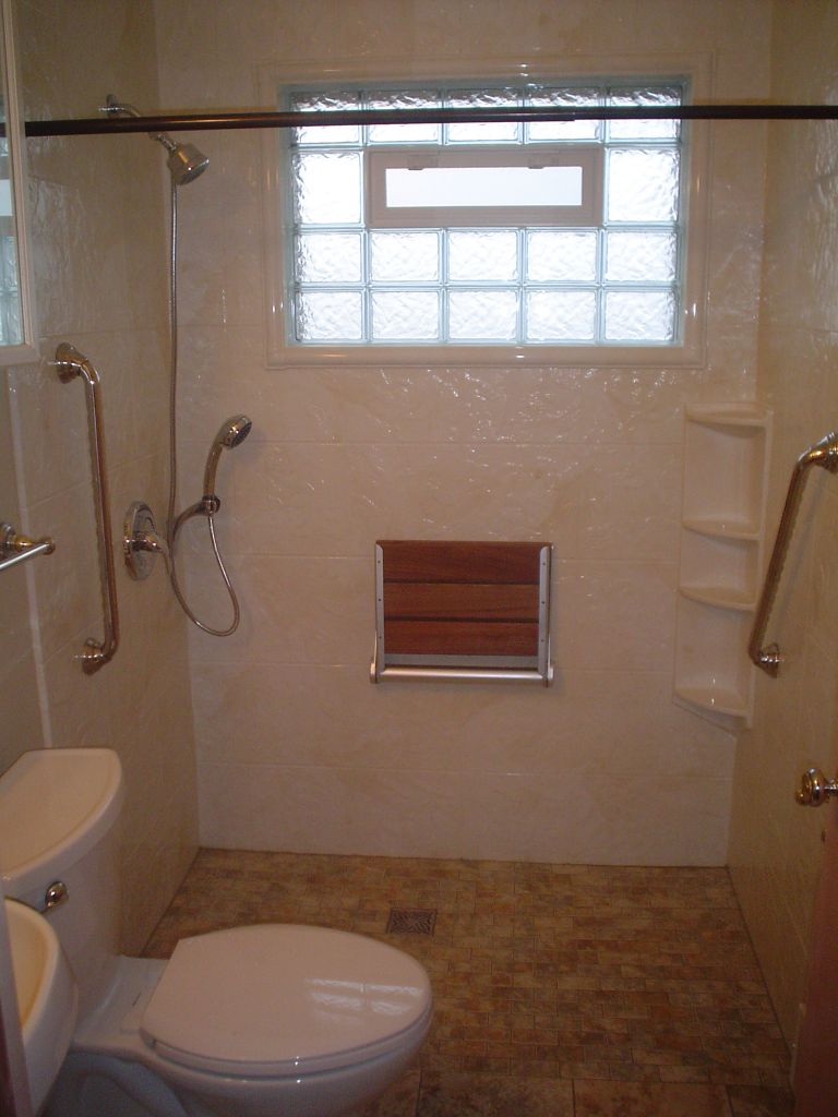 Bath To Shower Conversions With Glass Blocks Curved Glass