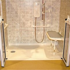 Bath Chair Accessories Custom Dining Chairs Australia Accessible Barrier Free Wet Room Shower Systems Cleveland