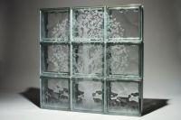 Laser Etched Glass Block Windows or Shower Walls
