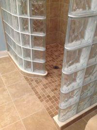 Ready for tile shower base for a glass block shower ...