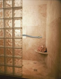 Bathrooms with Glass Block Showers