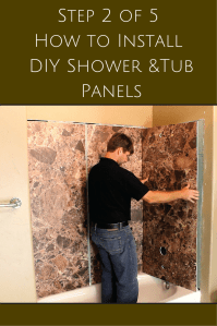 How To Fix Shower Wall Panels - installing a direct-to ...