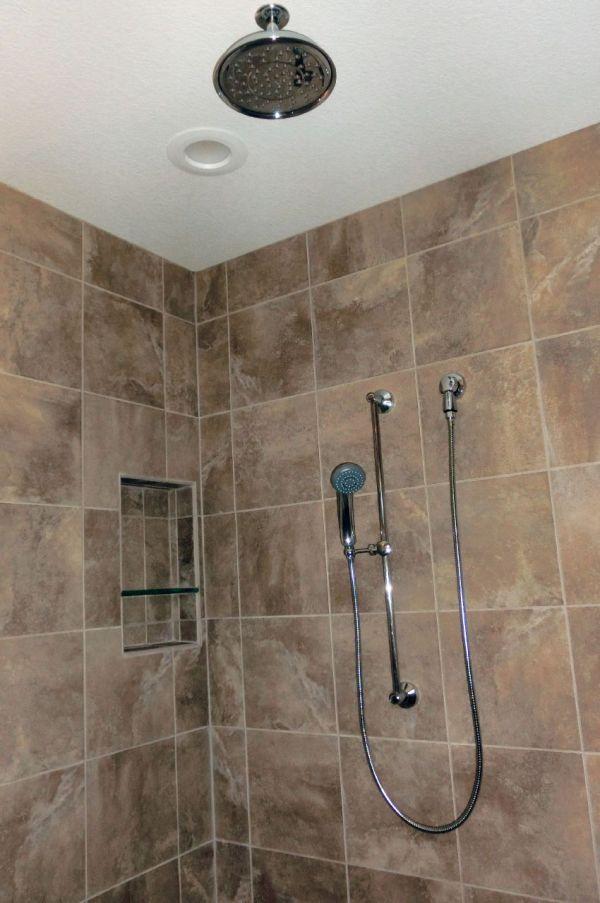 Rain Shower Head with Handheld Shower