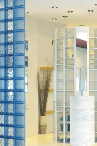 Contemporary and Colored Glass Block Designs for Walls and ...