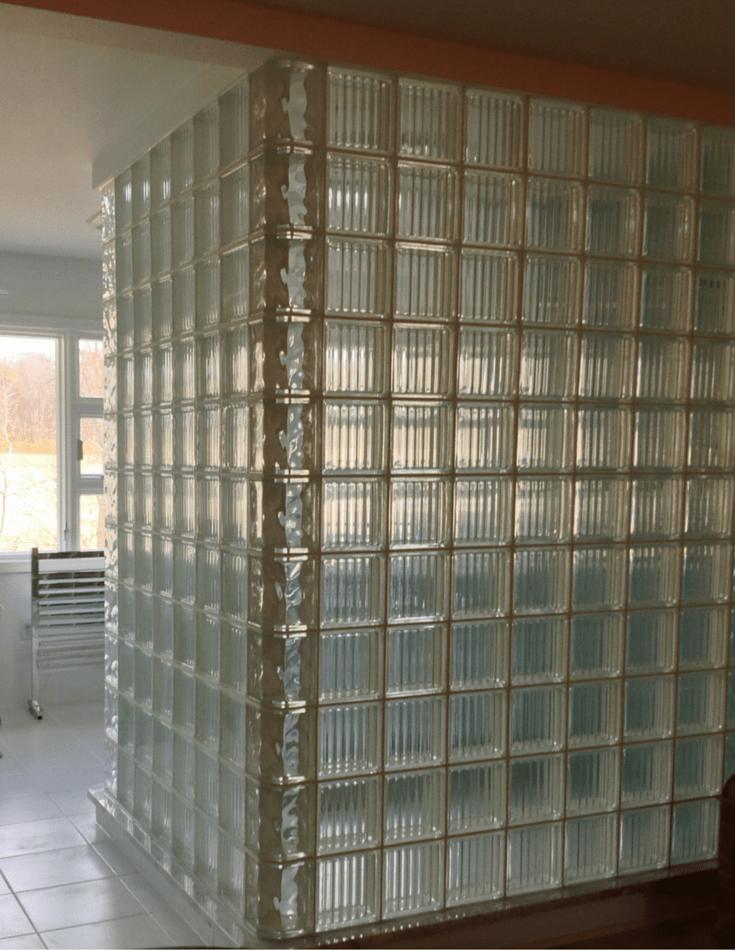 5 unique glass block shower designs in Texas California Ohio Florida