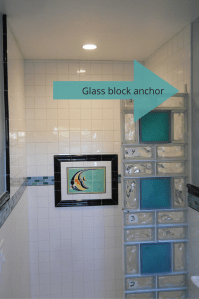 5 myths about how to anchor a glass block shower wall