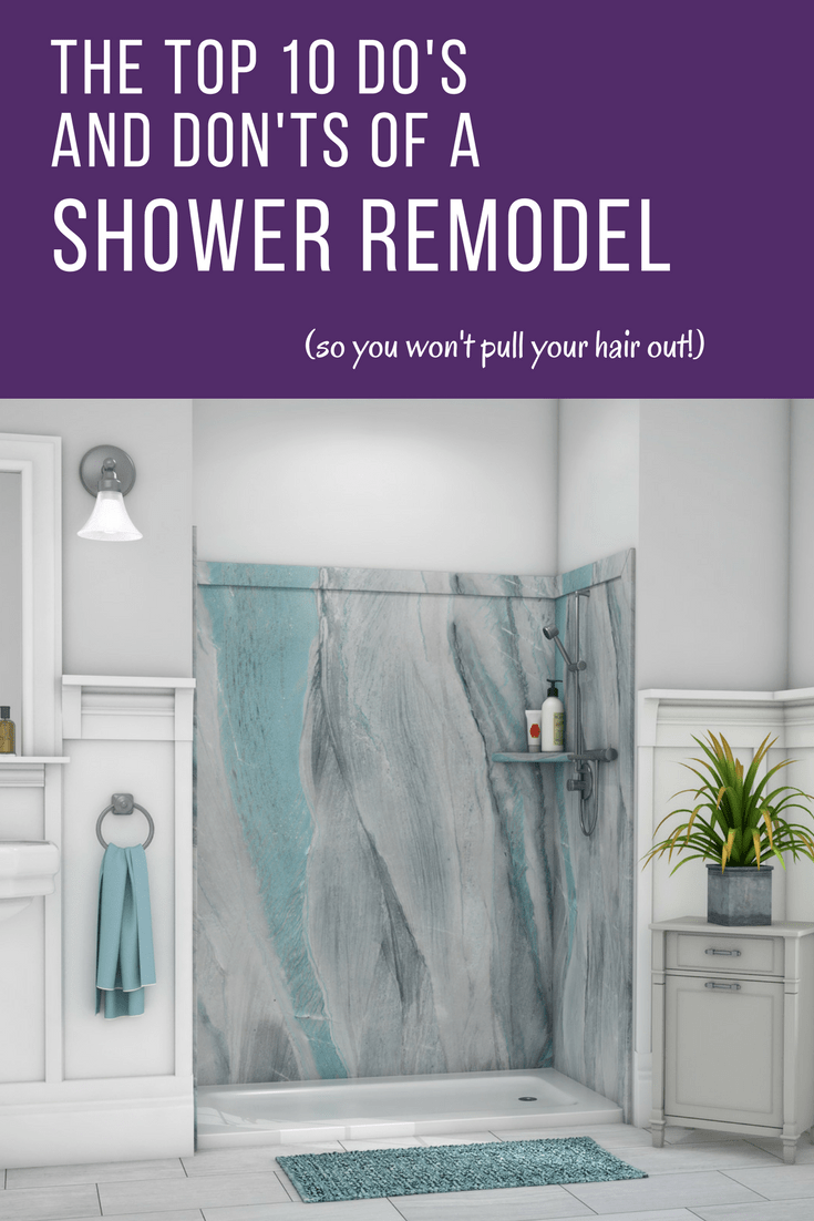 don ts for a shower remodel