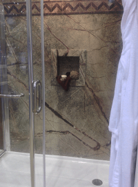 Shower wall panel installation problems solved with custom