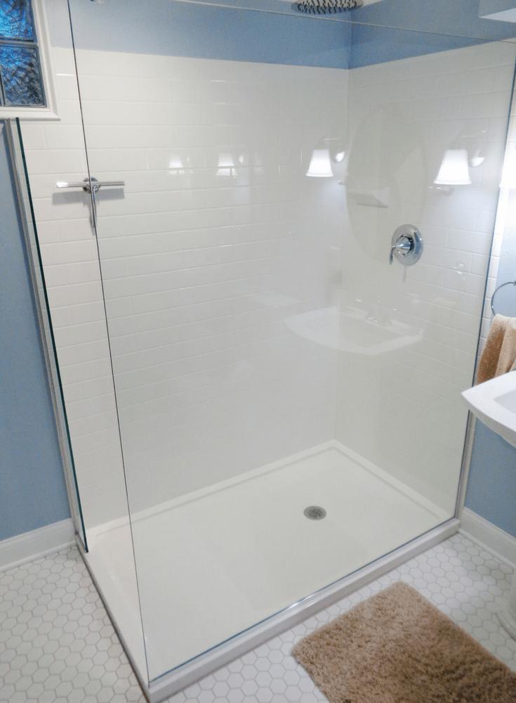 for tile shower pan for a bathroom remodel