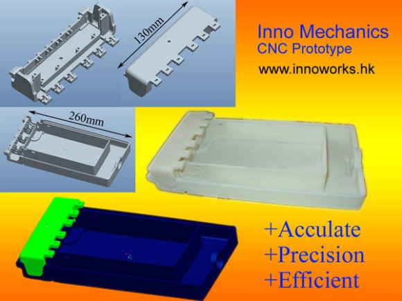 We provide CNC prototype fabrication, fast accurate. No matter how complex your computer model, we make it real for you! Materials: ABS, PC, POM… Fabrication Format: Pro-E, Solidworks, Step format, Igus format…