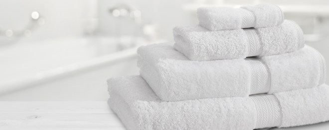 White Towels in luxury bathroom Performance Towel