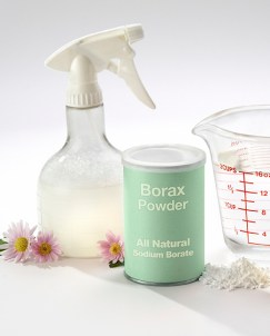 Borax and water to get dried blood stains out
