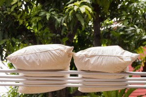 Drying memory foam pillows
