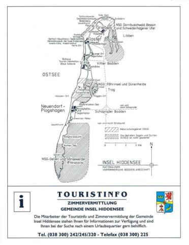 Hiddensee Gastgeberverzeichnis 1993 Seite 8